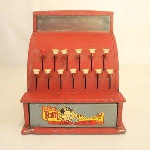 Tom Thumb Vintage Toy Cash Register Metal